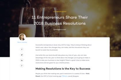 11 Entrepreneurs Share Their 2018 Business Resolutions